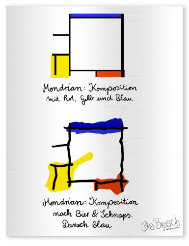 Cartoon: Mondrian (medium) by diebia tagged mondrian,besoffen