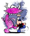 Cartoon: Baldo Dog walking around (small) by ettorebaldo tagged baldo,dog,dylan,ettore,cartoon