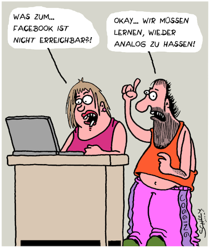 Cartoon: Facebook (medium) by Karsten tagged facebook,technik,updates,computer,hasskommentare,soziales,gesellschaft,facebook,technik,updates,computer,hasskommentare,soziales,gesellschaft