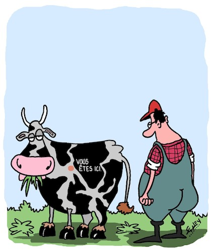 Cartoon: Meuuuuh! (medium) by Karsten tagged agriculture,animaux,vaches,agriculteurs,elevage,agriculture,animaux,vaches,agriculteurs,elevage