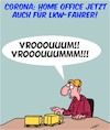 Cartoon: Corona - Arbeit im Home Office (small) by Karsten tagged corona,arbeit,home,office,gesundheit,viren,wirtschaft,gesellschaft,transport,lkw,pandemie