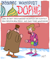 Cartoon: Doping!! (small) by Karsten tagged russland,olympia,doping,kriminalität,fairness,unsportlichkeit,recht,gesetz,drogen,putin