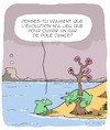 Cartoon: Evolution (small) by Karsten tagged nature,science,environnement,animaux,histoire,biologie,bars