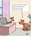 Cartoon: Hinaus!! (small) by Karsten tagged eltern,kinder,familie,internet,technologie,facebook,hunde,katzen