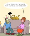 Cartoon: Inutile (small) by Karsten tagged chats,animaux,veterinaires,sante