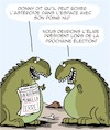 Cartoon: Le Boxeur (small) by Karsten tagged histoire,politique,dinosaures,science,elections