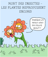 Cartoon: Mort des Insectes (small) by Karsten tagged plantes,insectes,gents,nature,climat