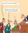 Cartoon: Objection! (small) by Karsten tagged justice,lois,juges,accusation,defense,interrogatoire,crime