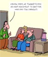 Cartoon: Pas peur! (small) by Karsten tagged familles,enfants,argent,pension,parents