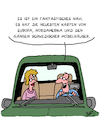 Cartoon: Super Navi! (small) by Karsten tagged navi,gps,autos,technik,fahren,männer,frauen,ikea,wirtschaft,shopping,gesellschaft