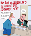 Cartoon: Taube Diplomaten (small) by Karsten tagged gesundheit,diplomaten,usa,china,europa,deutschland,eu,politik,grenell,manieren
