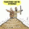 Cartoon: United in Hate (small) by Karsten tagged fascism,fundamentalists,jihadists,islam,religion,politics,terror,hate,racism