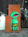 Cartoon: Hard Rubbish Art (small) by urbanmonk tagged wheatpaste,street,art