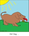 Cartoon: Hot Dog (small) by Amokkritzler tagged sommer,hot,dog,hund,hitze,sonne