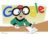 Cartoon: Mr. Magoogle (small) by rodrigo tagged google,mister,magoo,fine,search,engine,results,abuse,market,shopping,service