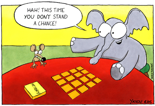 Cartoon: Memory - ENG (medium) by Yavou tagged elephant,mouse,memory,animals,game,yavou,playing,elephant,mouse,memory,animals,game,yavou,playing