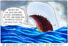 Cartoon: Auf See (small) by Yavou tagged zahnarzt dentist rubber boat see ocean ozean dinghy pottwal whale wal pot cetacean