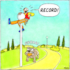 Cartoon: Bestzeit - ENG (small) by Yavou tagged record,running,dog,biting,park,jogging,sport