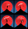 Cartoon: Bloodmoon (small) by Yavou tagged twitter,yavou,comic,comicstrip,werewolf,lycan,social,media,toxicity,hatred