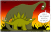 Cartoon: Dinos - ENG (small) by Yavou tagged dinos,dinosaurs,stegosaurus,diplodocus,yavou,scratch,cartoon