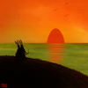 Cartoon: Ostersonne (small) by Yavou tagged ostern,ostersonntag,hasen,mümmelmänner,kaninchen,sonnenuntergang,meer,ozean,romantik,osterei,ei,sunset,dusk,sea,ocean,rabbits,coniglio,lepre,romantic,cartoon,yavou