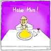 Cartoon: Rein zu doll (small) by Yavou tagged papst pope jorge mario habemus papam yavou cartoon bergoglio konklave pontifex franziskus katholische kirche mus kartoffelmus papstwahl vatikan