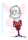 Cartoon: Hugh Heffner (small) by sinisap tagged playboy