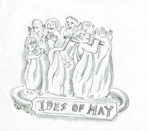 Cartoon: Beware the Ides of May (medium) by SteveWeatherill tagged conservative,party,leadership,brexit