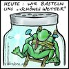 Cartoon: Wetterfrosch (small) by KritzelJo tagged wetter,frosch
