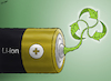 Cartoon: Going Green (small) by cartoonistzach tagged environment,nobel,chemistry,lithium,battery,green,renewable,energy