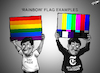 Cartoon: Rainbow Flag Examples (small) by Zachary Borromeo tagged rainbow,flag,new,york,times,cartoon,pride,censorship
