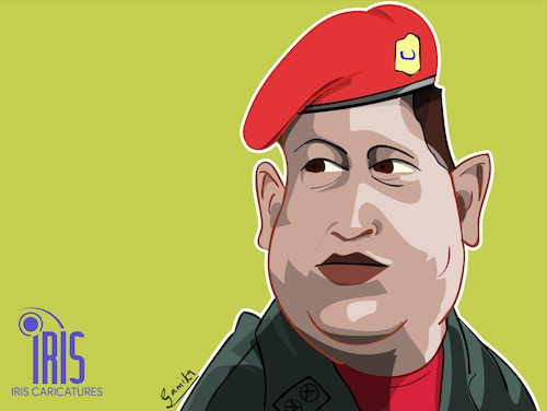 Cartoon: hugo chavez caricature (medium) by Gamika tagged caricature,cartoon,comic