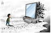Cartoon: child and technology addiction (small) by Mikail Ciftci tagged tv,tecnolojy,child,negativeexample