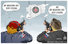 Cartoon: Syrian shooting range ! (small) by Mikail Ciftci tagged syria,war,weapon,mikailciftci