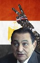 Cartoon: revolution in Egypt (small) by tanerbey tagged revolution,egypt,hosni,mobarak