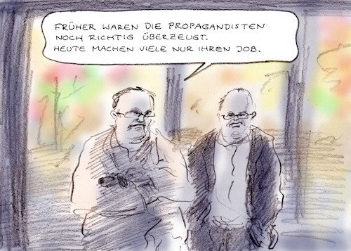 Cartoon: Gekauft (medium) by Bernd Zeller tagged journalisten