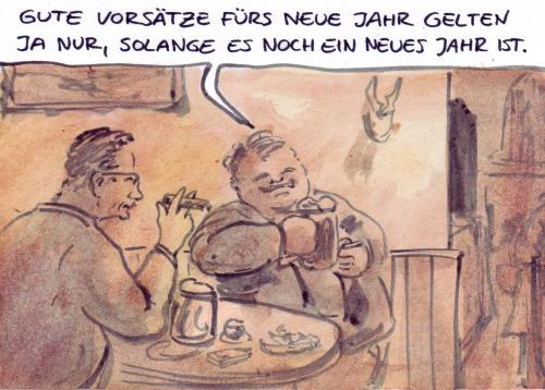 Cartoon: Juristisch betrachtet... (medium) by Bernd Zeller tagged neues,jahr,new,year,2008