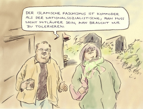 Cartoon: Kommod (medium) by Bernd Zeller tagged extremismus,islam