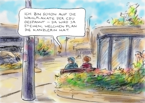 Cartoon: Wahlkampfvorfreude (medium) by Bernd Zeller tagged wahlen