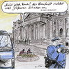 Cartoon: Terrorwarnung (small) by Bernd Zeller tagged haushaltsberatung,terrorwarnung