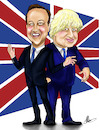 Cartoon: Boris Johnson and David Cameron (small) by Marycaricature tagged politics,dave,cam,boris,johnson