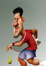 Cartoon: Novak Djokovic (small) by Nenad Vitas tagged novak,djokovic,serbia,tenis,wimbledon,champion