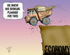 Cartoon: Oops! (small) by wyattsworld tagged mining,canada,yukon,resources