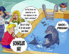 Cartoon: Delphin 2 (small) by Charmless tagged delphin delphintrainer reporter reporterin