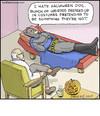 Cartoon: Bat Couch (small) by noodles tagged batman,psychologist,halloween,costumes,noodles