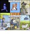 Cartoon: Devolution (small) by noodles tagged video,games,evolution,devolution
