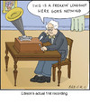 Cartoon: Edison (small) by noodles tagged edison,phonograph,inventors