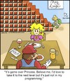 Cartoon: Game Over (small) by noodles tagged mario princess nintendo break up next level