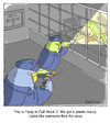 Cartoon: Jail Break (small) by noodles tagged jail parakeets prison escape