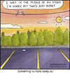 Cartoon: Rude Bird (small) by noodles tagged birds,sunset,story,rude,poop